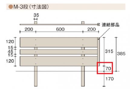 Eフェンスすきま7cm