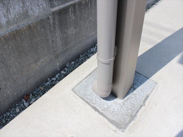 柱の建込み土間カット