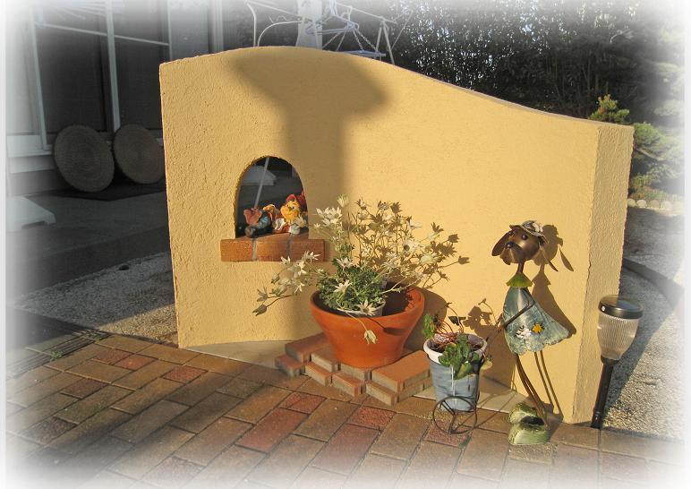 お庭の一角