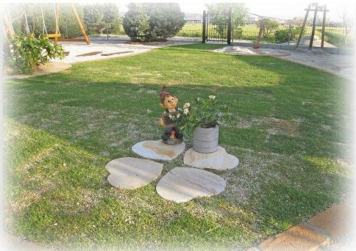 石貼りで作った四つ葉のクローバー