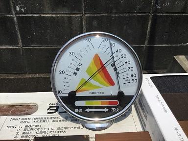 気温計が振り切る