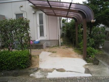 駐車スペース側
