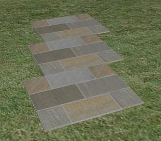 方形石のアプローチ