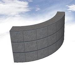 ブロックで曲線