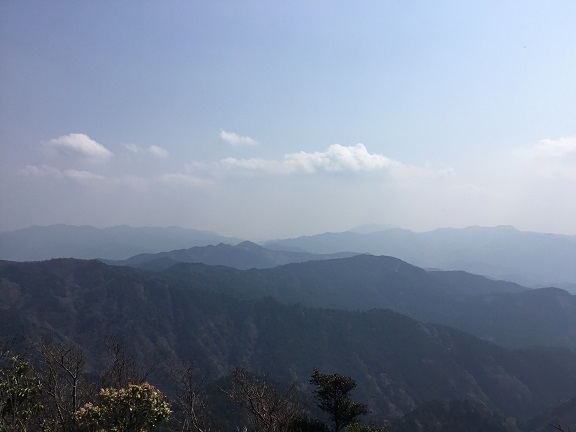釈迦岳から阿蘇方面を望む