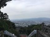 久留米の高良山から市街地を望む