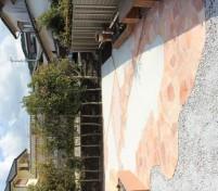お庭の舗装デザイン