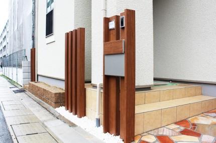 木目調システム門柱